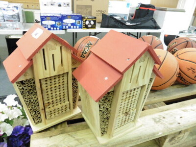 (317) 2 wooden bug houses