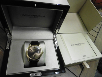 Emporio Armani gents watch with box and case
