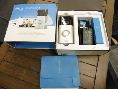 Ring video doorbell 2 wifi video doorbell pack and box