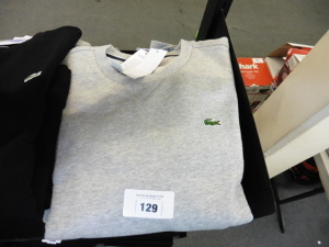 4 Lacoste long sleeve tops in grey US M