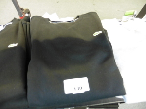 4 Lacoste long sleeve tops in black US M