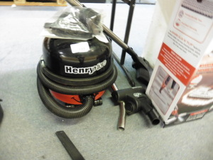 Henry micro vacuum cleaner with some accessories