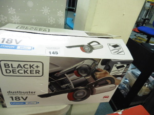 Black and Decker 18v dust buster in box
