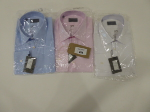 Three Kilgour shirts blue, pink and white all size 16.5