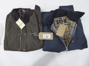 Barbour Bedale blue jacket size 38 and Barbour Ashby wax jacket size xxlarge